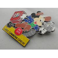 Wholesale NBC Camera Crew Disney Pin Badge by Zinc Alloy, Synthetic Enamel, Black Nickel, Glitter Filled from china suppliers