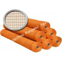Wholesale Square Mesh Knitted Polyethylene Guardrail / Safety Guard Netting , Orange Pool Safety Nets from china suppliers