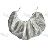 Wholesale Single / Double Elastic Disposable Surgical Caps , Non Woven White Surgical Beard Mask from china suppliers