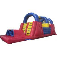 Wholesale Gaint Red / Blue Inflatable Obstacle Course , Child InflatableAqua Park from china suppliers