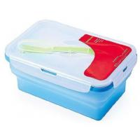Wholesale OEM / ODM customed design silicone lunch box, silicone collapsible lunch box with factory price from china suppliers
