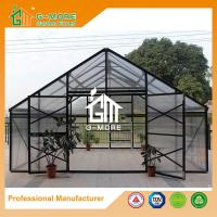 Wholesale 606x506x302cm Black Color 4 Seasons Aluminum/10MM Polycarbonate Large Flowerhouse from china suppliers