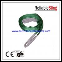 Wholesale Two Ton Green synthetic fiber lifting slings / Polyester Flat Web Sling from china suppliers