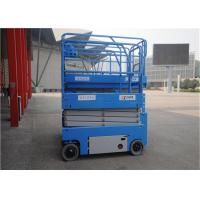 Quality 12m Self Propelled Scissor Lift Elevated Single Person Storage Battery Power for sale
