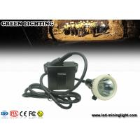 Wholesale 4000 Lux / 6.6ah Waterproof Safety Led Cap Lamp With Li - Ion Battery , Long Work Time from china suppliers
