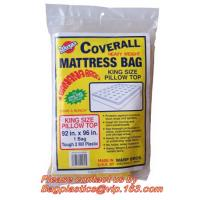 Buy cheap Plastic Mattress Protector Bag or Sofa Cover For Storage ,Moving, High tensile strength matress packing bags from wholesalers