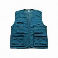 Wholesale Cotton Fishing Vest, Waterproof, Windbreak and Easy to Dry, OEM Orders are Accepted from china suppliers