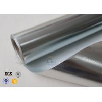 Wholesale 0.43mm Reflective Aluminium Foil Silver Coated Fabric Fibreglass 3732 480g/M2 from china suppliers