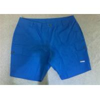Wholesale Blue Comfortable Cotton Mens Short Trousers , Casual Short Pants For Men from china suppliers