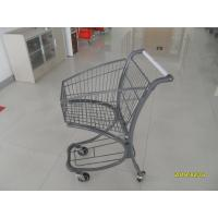 Wholesale 40L Steel Tube Airport Supermarket Shopping Trolley With Advertisement Board from china suppliers