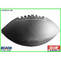 Wholesale Official Size 9 American Football Balls Black Rugby Ball , Embossed Printing from china suppliers