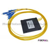 Wholesale ODN 1x4 ABS Package Fiber Optic PLC Splitter With Single Mode SC/UPC Connector from china suppliers