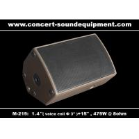 "Wholesale 475W Concert Sound Equipment 1.4"" + 15"" Stage Monitor , Full Range Speaker For Installation from china suppliers"