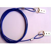 Wholesale 3.0mm  / 4.0mm Blue PVC Coated Glavanized Wire Ropes Slings Cable With D-rings For Hanging from china suppliers