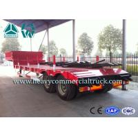 Quality High Efficiency Low Bed Semi Trailer For Road Transport / Heavy Duty Machine for sale
