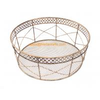 Wholesale China Factory Price Direct Mesh Design Round Metal Trays For Home and  Hotel Use from china suppliers