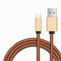 Wholesale PU Leather Aluminum Type C Charging Cable , 3.3FT Type C To USB A Cable from china suppliers