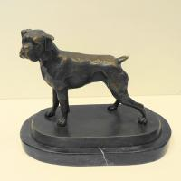 Wholesale Decorative Lovely Cast Bronze Dog Sculpture from china suppliers