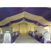 Wholesale Sunproof Outdoor Canopies For Business Party Activity , 15m * 50m White Canopy Tent from china suppliers
