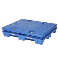 Wholesale High GSM HDPE Lid Collapsible PP Akyboard Stackabox from china suppliers
