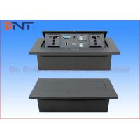 Wholesale Hidden 3.5 Audio Desk Pop Up Sockets Black Matte ,  Power Supply Plug For Tabletop from china suppliers