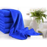 Quality Super Absorbent Plush Custom Microfiber Towels , Blue microfiber car cleaning cloth 70*140cm for sale