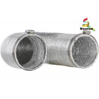 Wholesale Air exhausting single or double layer aluminum flexible ducting , flexible aluminum foil duct from china suppliers