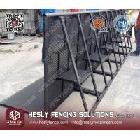 Wholesale Black Powder Coated Aluminium Crowd Barriers from china suppliers