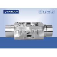 Buy cheap Inox sanitary multiport valve round steel body for beverage process and fluid control from wholesalers