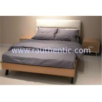 Quality Modern Nordic comfortable solid wood bed with Double size and Metal supporting legs,Oak bedroom bed for sale
