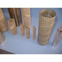 Wholesale 304 , 316 Round Perforated Metal Pipe , Pouch Stainless Steel Pipes 2mm Thick from china suppliers