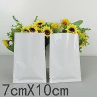 Wholesale 7 * 10 Cm White Plastic Sleeves Aluminum Foil Bags Standing Up For Capsules from china suppliers