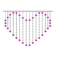 Wholesale heart  shape curtain string light romantic wedding lights from china suppliers