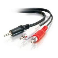 Buy cheap 3.5mm Mini-Stereo Male to Two RCA Male Adapter Cable, 1m, RoHS,UL from wholesalers