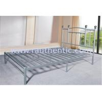 Durable Heavy Duty Silver Metal Single Bed Frame Metal Bedroom Furniture Powder Coating
