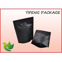 Wholesale Matt Black Plastic Stand Up Pouches With Valve For Coffee Packaging from china suppliers