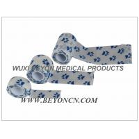 Wholesale Self Adhesive Bandage Paw Prints Pet Wrap Custom Printed Cohesive Elastic Bandage from china suppliers