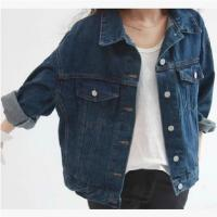 Wholesale Distressed Cotton Spandex Womens Black Denim Jean Jacket With Two Pockets from china suppliers