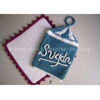 Wholesale Crochet Christmas Ornaments Indigo White Chimney Shape With White Letters from china suppliers