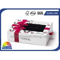 Wholesale Cream Packing Rectangle Rigid Paper Box Cardboard Drawer Box With PVC Window from china suppliers