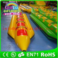 Wholesale Exciting Inflatable Water Boat Single Lane Inflatable Banana Boat For Adult from china suppliers