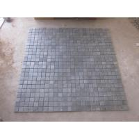 Quality Black Slate Mosaic Wall Tile Natural Stone Mosaic Carbon Black Mosaic Pattern Floor Parquet for sale
