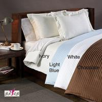 Wholesale Light Blue Ivory Chocolate 100 % Cotton Country / Hotel Collection Double Bed Linen from china suppliers