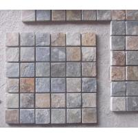 Wholesale Natural Stone Mosaic Rusty Slate Wall Mosaic Slate Mosaic Pattern Mosaic Floor Tiles Parquet from china suppliers