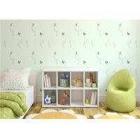 Wholesale Butterfly Green Plants Non Woven Kids Bedroom Wallpaper Strippable Wallpaper from china suppliers