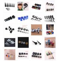 Wholesale various punk jewelry body piercing ear expansion funmijewelry#foxmail#com 316L stainless steel arclylic ear from china suppliers
