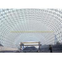 Quality Metal Building Curved Steel Roof Trusses High Anti Rust Performance for sale