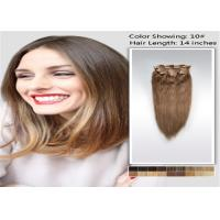 Wholesale 100% Raw 5A / 6A Clip In human Hair Extensions , Pro Bonded Indian Straight Hair from china suppliers