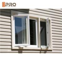 China Aluminium French Triple Casement Windows Replacement In White Color casement window manual open import aluminium casemen on sale