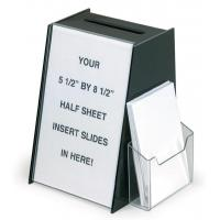Wholesale Black Acrylic Ballot Box Suggestion Boxes W 5.5 x 8.5 Sign Holder & Side Pocket from china suppliers